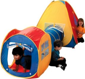 This brightly coloured pop up play tent and cube are joined with a pop up tunnel for extra fun.  sc 1 st  Party Train u0026 Soft Play Hire & Pop Up Tents u0026 Tunnels